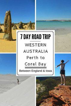 7 Day Western Australia Road Trip Itinerary Perth to Coral Bay Australia Occidental, Queensland Australia, Western Australia, Australia Travel, Visit Melbourne, Brisbane, Sydney, Australian Road Trip, Beaches In The World