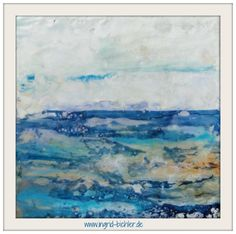 abstract landscape - encaustic *abstract and mixed media artist* www.ingrid-bichler.de