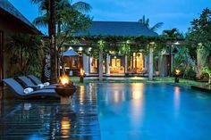 Bali villa nestled in lush tropical greenery