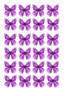 24 butterflies butterfly cake toppers decorations edible approx 4cm wide D10