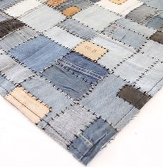Denim blanket/rug--use as a picnic blanket because it's durable and leaves won't stick to it?