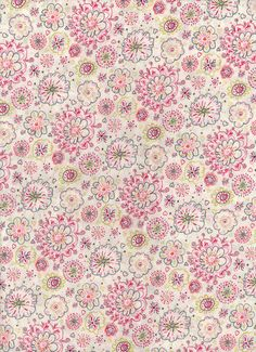 Liberty Tana Lawn fabric Flowery Meadow 6x27 by MissElany on Etsy, $4.10
