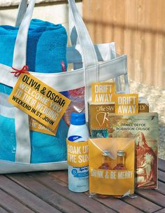 welcome bag...like this idea and the goodies that come in the bag!