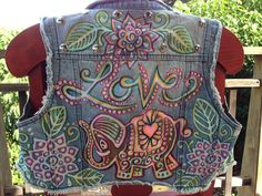 Lucky in love handbleached upcycled denim by reMusedClothing, $150.00