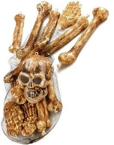 Bag of Bones Prop Skeleton Remains Halloween Decoration by Forum Novelties. Save 46 Off!. $17.97. Size information: Standard Size. Great finishing touch for any Halloween Horror theme. Brand new fantastic quality Halloween Horror Skeleton Bag of Bones. This posting includes: Bag of bones (skeletal remains) as featured. These deluxe 13-piece bag of bones are an awesome decoration for all kinds of Halloween themes! Skeletal remains are always cool, but these are even better with the…