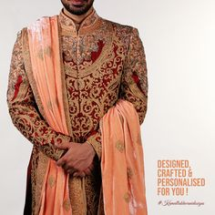 Designed, crafted & personalised for you! Groomsmen, Ethnic, Sari, Menswear, Blazer, Mens Fashion, Wedding Dresses, How To Wear, Jackets