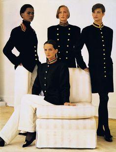 Ralph Lauren ad 1990 feat Karen Alexander, Kim Nye, Linda Evangelista & Saffron Aldridge  *For some reason this image has been very popular on my blog.......