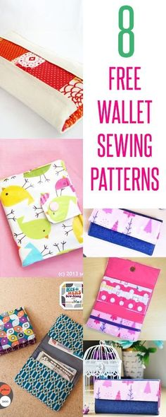 free wallet patterns | wallet sewing tutorials | diy wallets | kids wallets