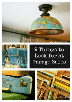 What to Look for at Garage Sales