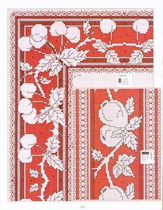 Tovaglietta a punto Assisi (schema) Blackwork Embroidery, Modern Embroidery, Cross Stitch Embroidery, Embroidery Patterns, Cross Stitch Borders, Cross Stitch Charts, Cross Stitch Designs, Cross Stitch Patterns, Cross Stitch Kitchen