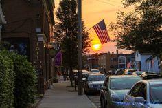 Sunset On Cottage Street, Easthampton Massachusetts. #easthampton #wmass #sunset #cottagestreet