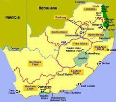 Dichtbij het Kruger Nationaal Park, Mozambique, Swaziland