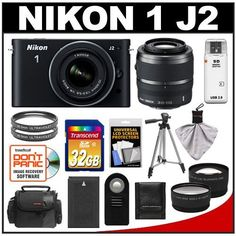 Nikon 1 J2 Digital Camera Body with 10-30mm & 30-110mm VR Lens (Black) with 32GB Card + Case + Battery + Filters + Tripod + Remote + Wide-Angle & Telephoto Lenses + Accessory Kit by Nikon. $729.95. Kit includes:♦ 1) Nikon 1 J2 Digital Camera Body with 10-30mm VR Lens (Black)♦ 2) Nikon 1 30-110mm VR Lens (Black)♦ 3) Transcend 32GB SecureDigital Class 10 (SDHC) Card♦ 4) Spare EN-EL20 Battery for Nikon♦ 5) Sunpak 40.5mm UV Glass Filter♦ 6) Additional Sun...