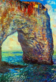 Claude Monet The Rocky Cliffs of Etretat La Porte Man 2 Art Print Poster Masterprint - AllPosters.ca It practically shimmers!