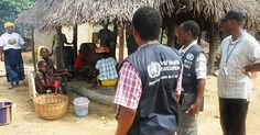 Quewein, Liberia: WHO and partners visiting remote villages during the Ebola outbreak