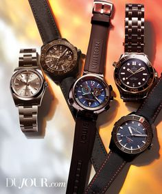 WATCH out for these sleek summer dive and regatta timepieces by ROLEX, TAG Heuer, Louis Vuitton, OMEGA Watches, and Ulysse Nardin. Rolex Watches, Watches For Men, The New Wave, Oyster Perpetual, Other Accessories, Omega Watch, Men's Shoes, Cool Style, Waves
