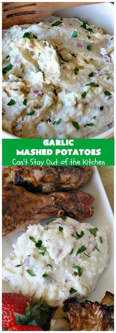 Cheesy Red Potatoes – Can't Stay Out of the Kitchen Cheesy Red Potatoes, Garlic Mashed Potatoes, Veggie Side Dishes, Side Dish Recipes, Potato Recipes, Beef Recipes, Cooking Recipes, Potatoes Romanoff Recipe, Cheesy Meatloaf