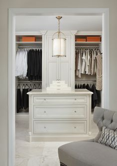 Closet island and design by Marianne Jones - simple elegance