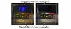 Low Cost, High Definition Transparent Display Developed Through Nanotechnology