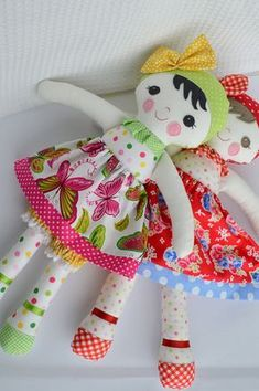PDF sewing pattern Doll soft toy Dressed doll 'LEAH