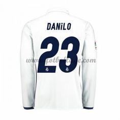 Fotbollströjor Real Madrid 2016-17 Danilo 23 Hemmatröja Långärmad
