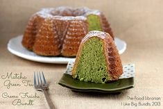 Matcha Green Tea Crème Fraîche Bundt Cake