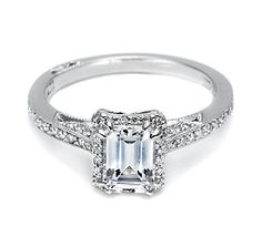 Emerald Cut Engagement Ring Pictures On Fingers 26 Engagement Ring Pictures, Tacori Engagement Rings, Emerald Cut Engagement, Platinum Engagement Rings, Beautiful Engagement Rings, Engagement Ring Styles, Fashion Rings, Wedding Rings, Wedding Band