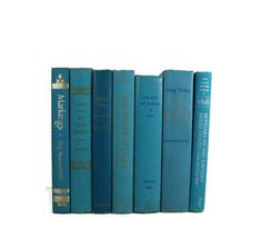 Aqua Turquoise  Green Vintage Decorative Books for Wedding Decor and Photo Prop on Etsy, $38.00