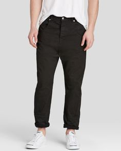 McQ Jeans - Low Crotch Relaxed Fit in Darkest Black