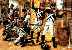 Hook, Richard (b,1938)- Waterloo, La Guardia Joven en Plancenoit, 1815