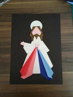 Jesus misericordioso origami arte:Isadora Rocha (Isas origami)