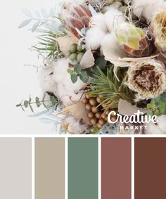 Winter floral palette