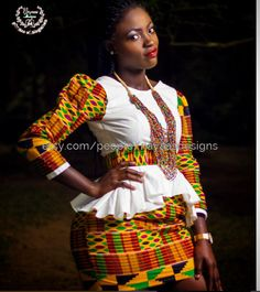 Items similar to Kente African Mini Skirt and top, African Clothing, African Print; Summer outfit on Etsy Short African Dresses, African Blouses, African Tops, African Fashion Dresses, Xhosa Attire, African Attire, Kente Dress, Kente Styles, Womens Dress Suits