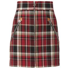 Rag & Bone Leah Plaid Mini Skirt  00 (€335) ❤ liked on Polyvore featuring skirts, mini skirts, bottoms, red, red mini skirt, short plaid skirt, plaid skirt, tartan mini skirts and red tartan skirts