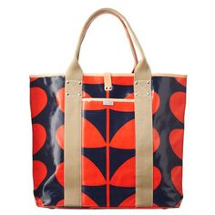 Giant Stem Large Tote from Orla Kiely taking my trusty green and white version on the plane!