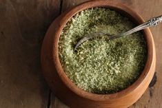 DIY herb salt tutorial - great holiday gift - i do this - and its GREAT!