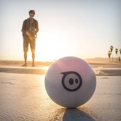 Now for a unique toy that is about as modern and futuristic as any toy I've seen. You get a robotic ball that can to control using your Smartphone. It works with all the Apple range iPhone, iPad and iPod and also with any Android device.
