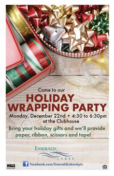 el invited residents to a holiday wrapping party where they could enjoy other residents presence