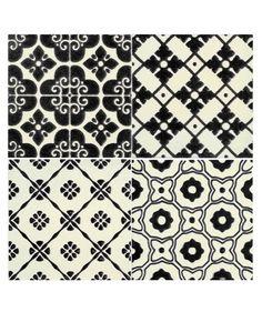 La Dolce Vita Patchwork Black 4 Tile Set - wall tiles. £10.99 per box.
