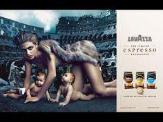 Lavazza coffee calendar 2009 shot by Annie Leibovitz, featuring Electtra Rossellini Wiedemann.