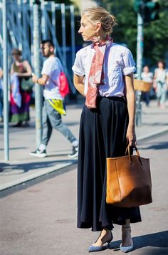 How to Wear a Maxi Skirt Without Looking Dated via @WhoWhatWearUK