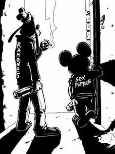 Sux that goofy is wearing famines, but I love punk disney