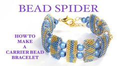 How to make a carrier bead bracelet AND how to read a peyote pattern.