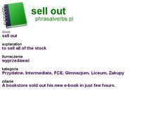 #shopping #phrasalverbs.pl, word: #sell out, explanation: to sell all of the stock, translation: wyprzedawać