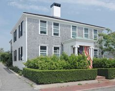 The Skirted Roundtable: John Derian's Provincetown House Early American Homes, Colonial Garden, Cape Cod Cottage, Outdoor Spaces, Outdoor Decor, Exterior Colors, The Great Outdoors, Future House, Building A House