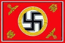 """3'X5' ADOLF HITLER FLAG, Fuhrer' Standard, WWII NAZI Swastika German Germany, Third 3rd Reich banner by ,. $8.88. FlagDistributor does not necessarily endorse any meanings or connotations you may assign to this or any other flag, """"Meaning, like beauty, is in the eye of the beholder."""" We support the spirit of the 1st Amendment to the U.S Constitution; Political censorship is UnAmerican and we don't practice it. Over 1,000 different designs in stock, perhaps the largest sele..."""