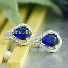 Sapphire Drop Stud Earrings wholesale Direct Sale Painting Color Available Crystal Earrings Pearl Stud Earrings, Pearl Studs, Crystal Earrings, Drop Earrings, Silver Pearls, Blue Sapphire, Crystals, Painting, Color