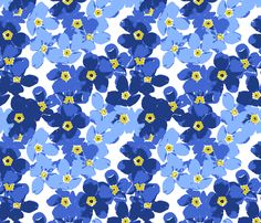 forget me not flowers fabric by katarina on Spoonflower - custom fabric