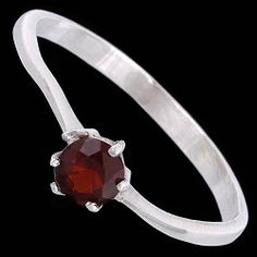 Silver ring, zirconia, classic Silver ring, Ag 925/1000 - sterling silver. With stone (Cubic zirconia). Classic ring with one stone. Width at the place with zirconia approx. 5mm.