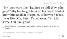 """Because old is the new young. 